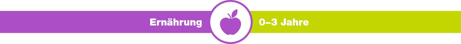 kjz-Ratgeber, Ernährung, 0-3 Jahre