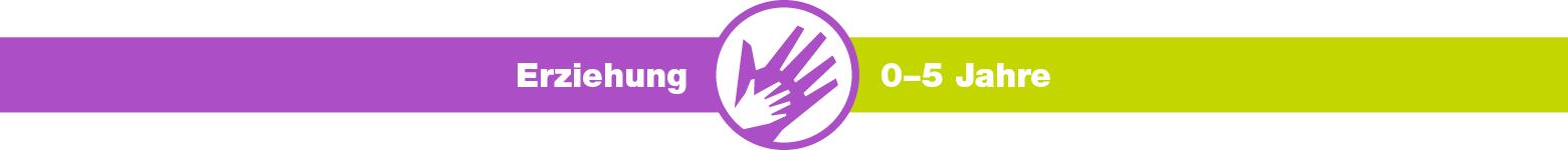 kjz-Ratgeber, Erziehung, 0-5 Jahre